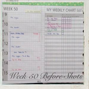 Week 50-Before Shot-Weekly Schedule & Checklist