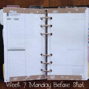 Week 7 Monday Before Shot