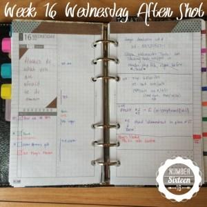 Week 16 Wednesday After Shot