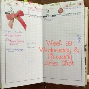 Week 33 Wednesday & Thursday After Shot