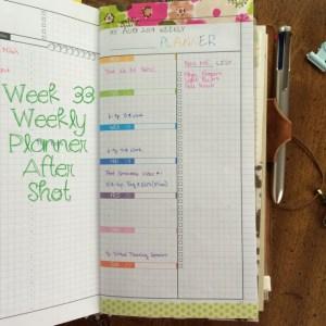Week 33 Weekly Planner After Shot