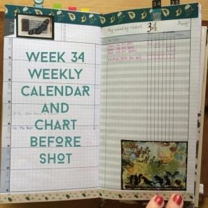 Week 34 Calendar & Chart Before Shot