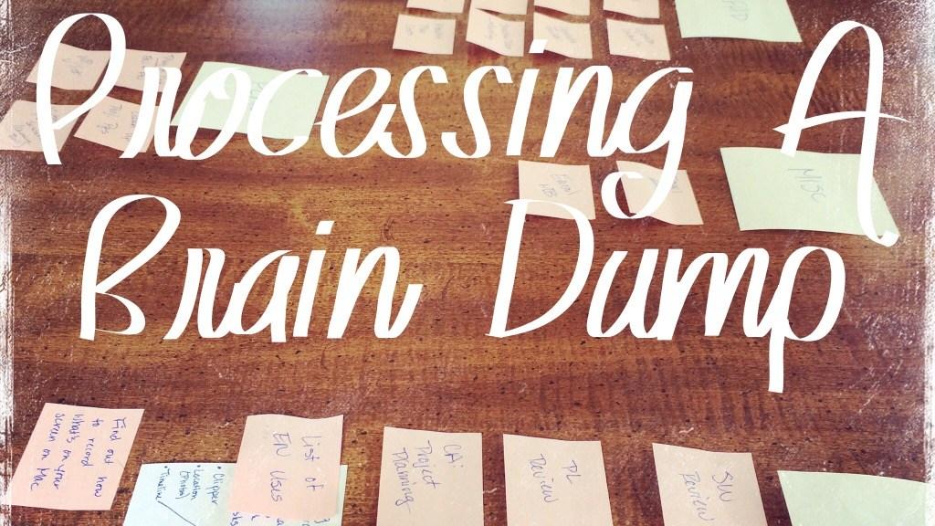 Processing A Brain Dump