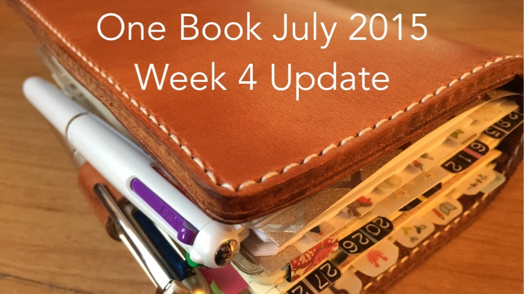 #onebookjuly2015 Week 4 Update