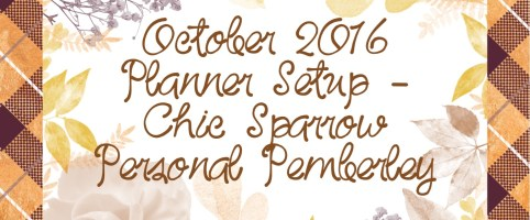 October 2016 Planner Setup – Chic Sparrow Personal Pemberley in Honey