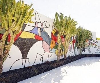Mur peint à Lanzarote.