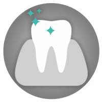 Tooth whitening icon - cosmetic dentistry