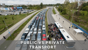 Public vs private transport