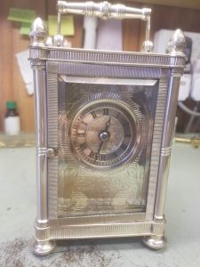 Mappin & Webb carriage clock front view