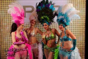 Group of Funny Showgirls Calgary