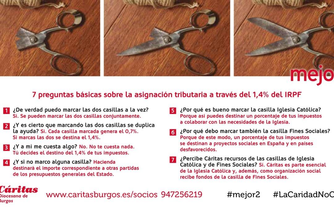 El 20% de las declaraciones de Burgos no marcaron ni la 'X solidaria' ni la destinada a la Iglesia