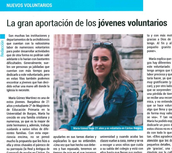 La gran aportación de los jóvenes voluntarios
