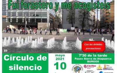 Cáritas Burgos participa en el Círculo de Silencio