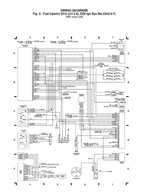 Volvo 240 (1993)  wiring diagrams  Fuel injector ECU (LH