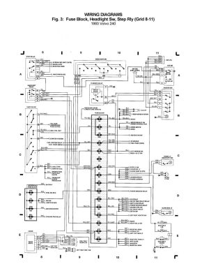 Volvo 240 (1993)  wiring diagrams  Fuse block, Headlight