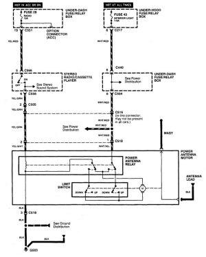 Acura Integra Antenna Wiring Diagram  Wiring Data
