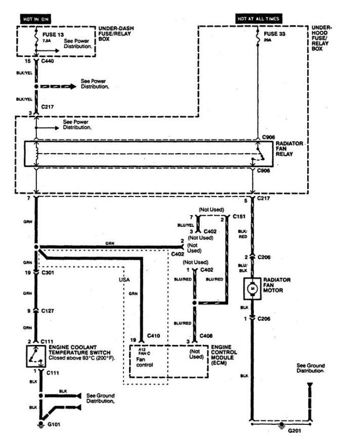 integra radio wiring  circuit diagram and explanation