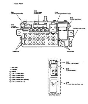 Acura Integra (1994  1997)  wiring diagrams  fuse block  CARKNOWLEDGE