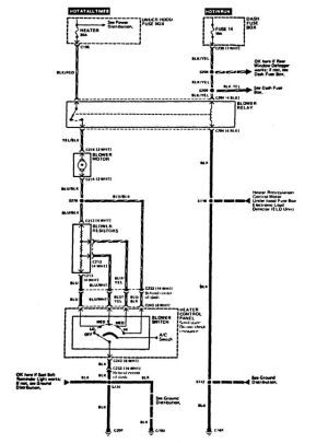 Acura Integra (1989)  wiring diagrams  HVAC control  CARKNOWLEDGE