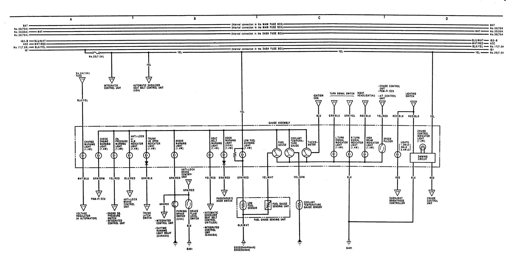 Wiring Diagram For 91 Acura Integra