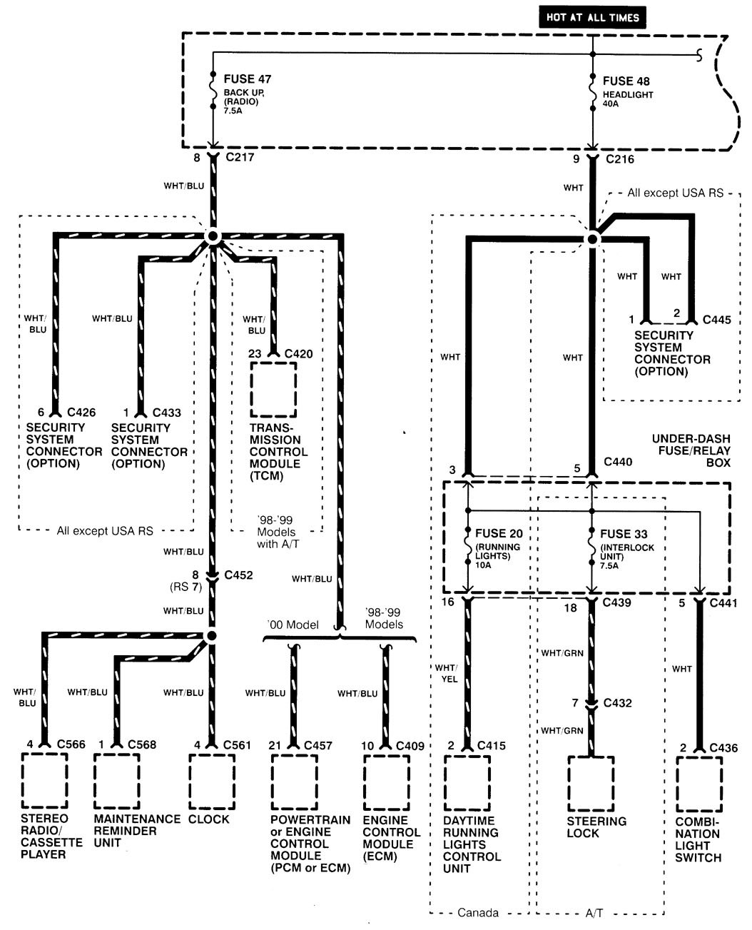 97 Integra Radio Wiring Diagram