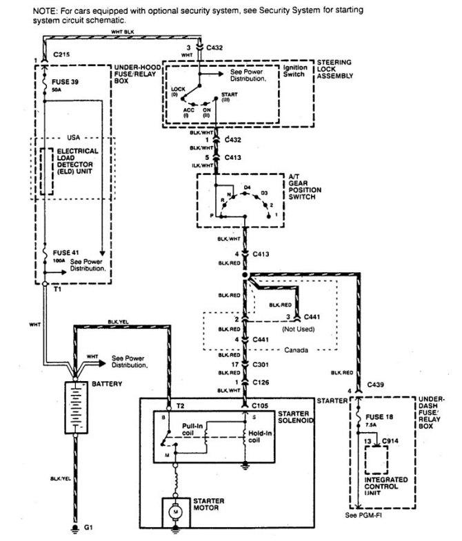 acura integra 1995  2001  wiring diagrams  starting