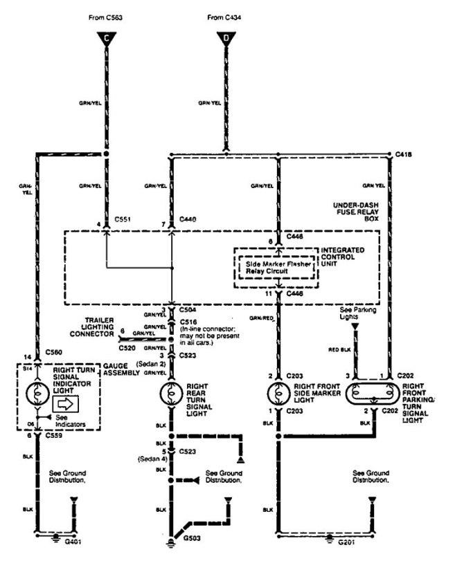 1995 acura integra wiring diagram lighting  2005 honda