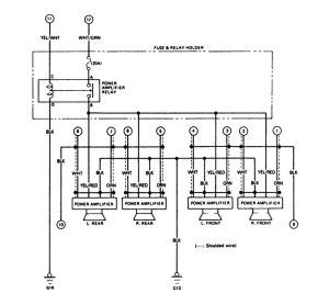 Acura Legend (1988)  wiring diagram  audio  CARKNOWLEDGE