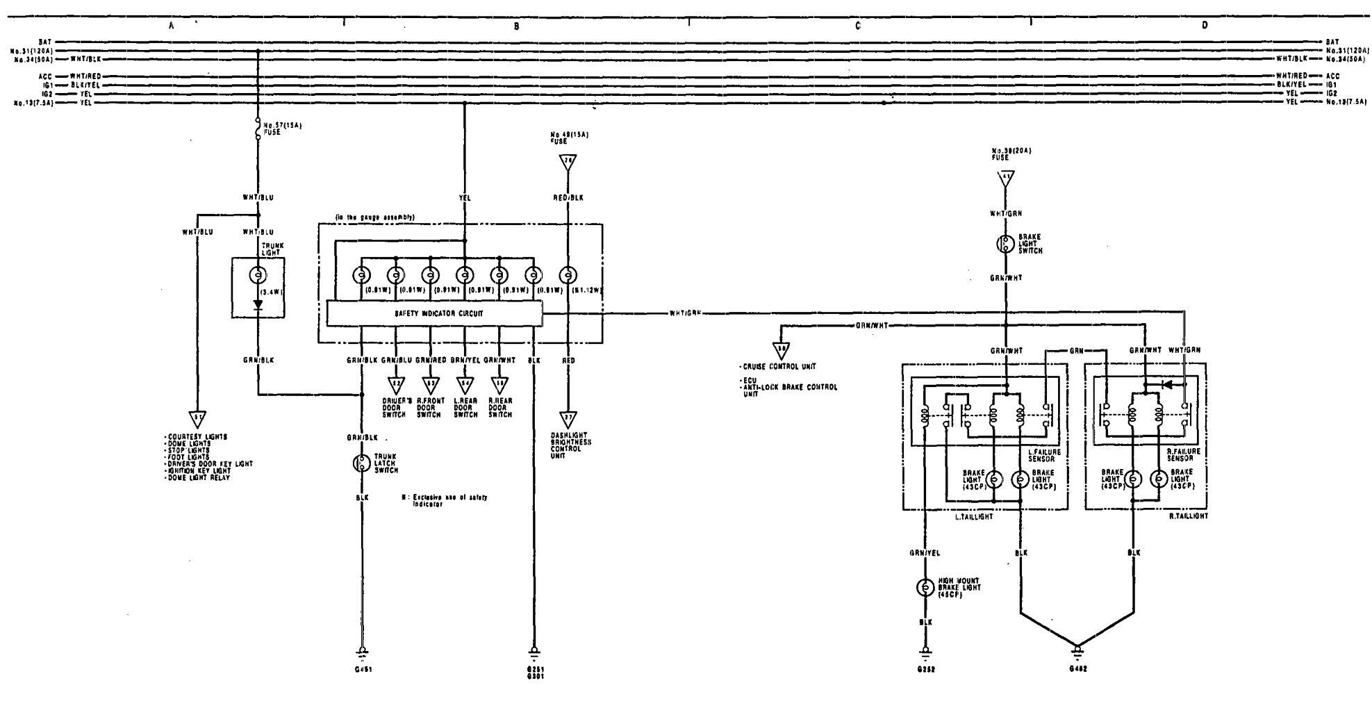 Acura Legend Ecu Acura Circuit Diagrams