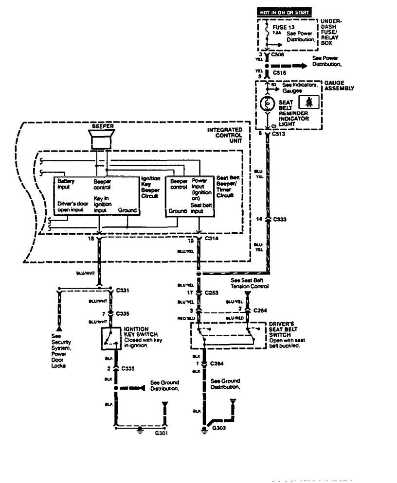 Acura legend wiring diagram key warning part 2