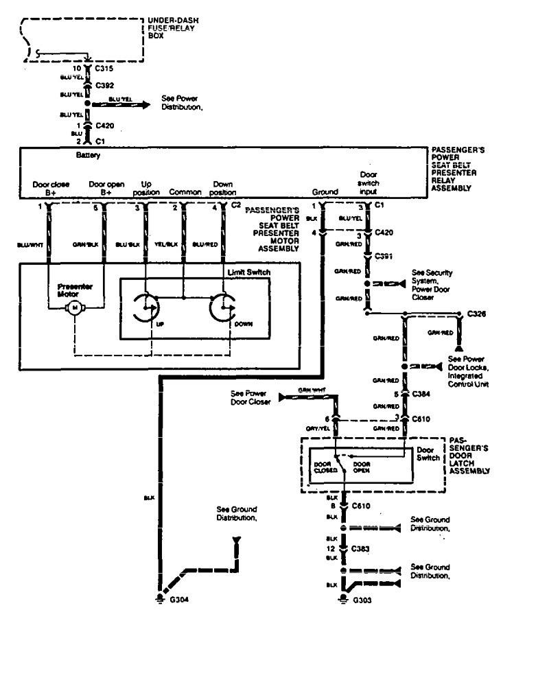 Acura legend wiring diagram seat belts part 2