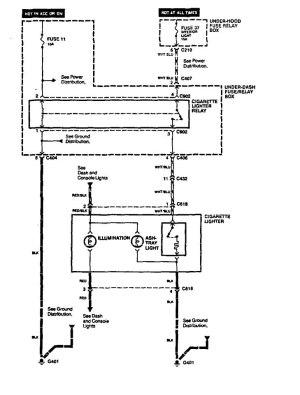 Acura Vigor (1994)  wiring diagrams  cigar lighter