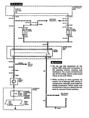 Acura Vigor (1994)  wiring diagrams  horn  CARKNOWLEDGE