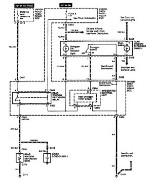 Acura Vigor (1994)  wiring diagrams  rear window