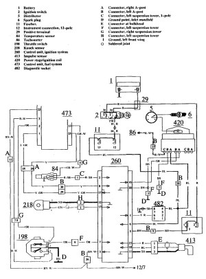 Volvo 740 (1990  1991)  wiring diagrams  ignition