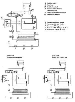 Volvo 740 (1990)  wiring diagrams  rear window defogger  CARKNOWLEDGE