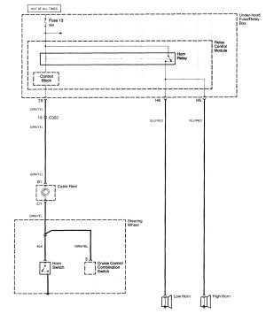 Acura TL (2006)  wiring diagrams  horn  CARKNOWLEDGE