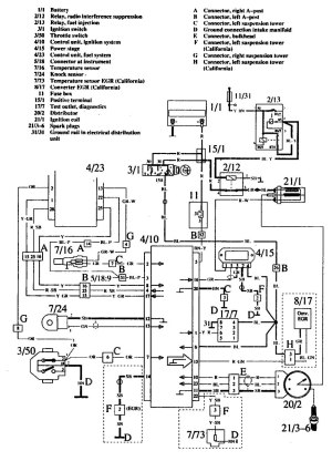 Volvo 760 (1990)  wiring diagrams  ignition  CARKNOWLEDGE