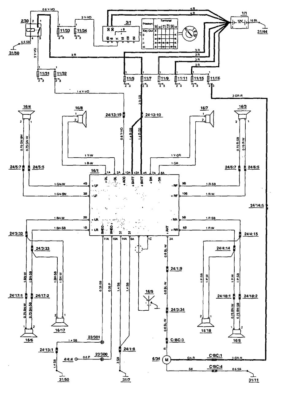 1995 volvo 850 wiring diagram volvo 850 1995 u2013 wiring diagrams u2013 audio