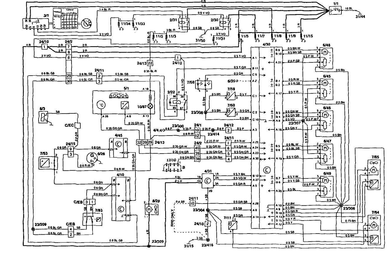 Volvo 850 Wiring Diagram