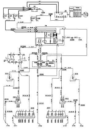 Volvo 850 (1993)  wiring diagrams  turn signal lamp