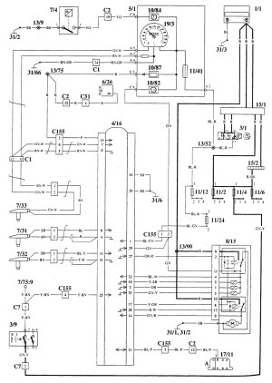 Volvo 940 (1995)  wiring diagrams  brake controls