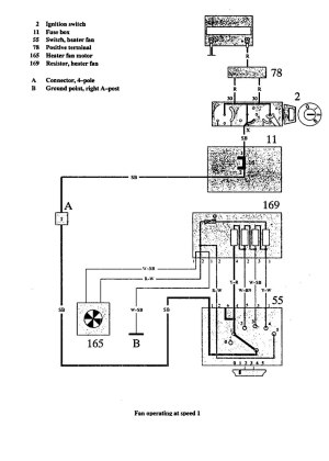 Volvo 940 (1991)  wiring diagrams  Heater fans  CARKNOWLEDGE