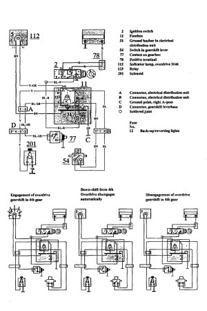Volvo 940 (1991)  wiring diagrams  overdrive controls
