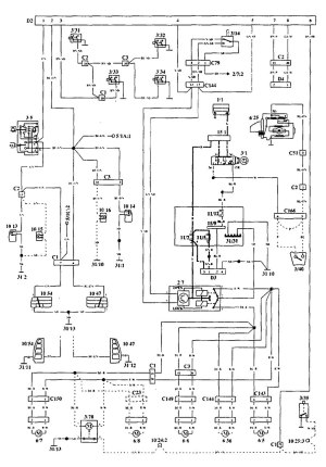 Volvo 940 (1994  1995)  wiring diagrams  securityantitheft  CARKNOWLEDGE