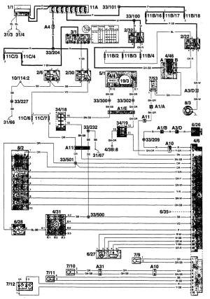 Volvo 960 (1996)  wiring diagrams  HVAC controls