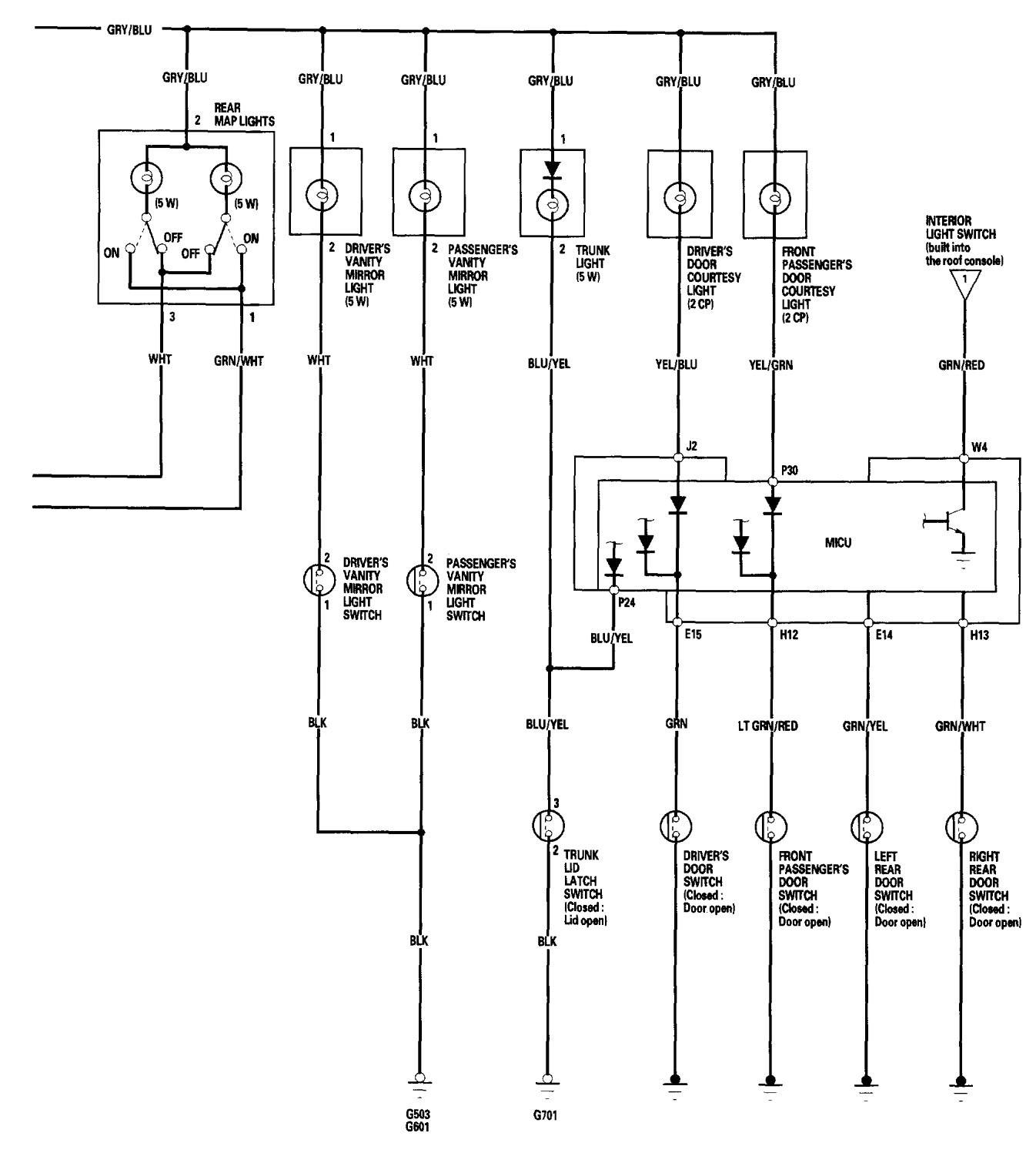 Acura Tl Wiring Diagrams Interior Lighting