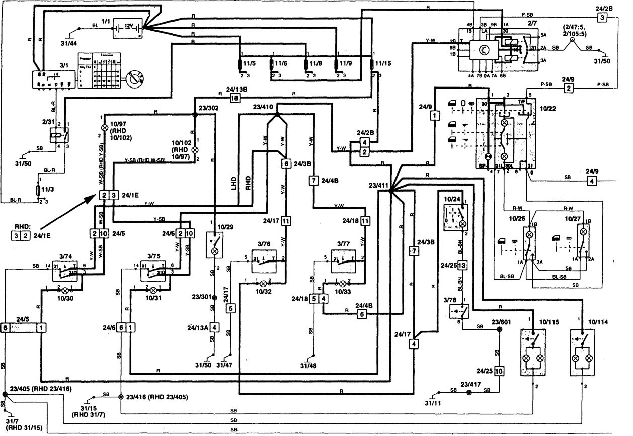 volvo 1995 radio wiring diagram mes 320 sedan fuse box