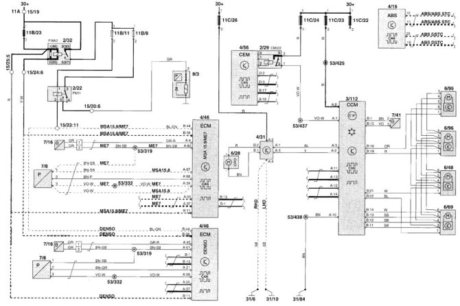 volvo v70 2001  wiring diagrams  heater  carknowledge