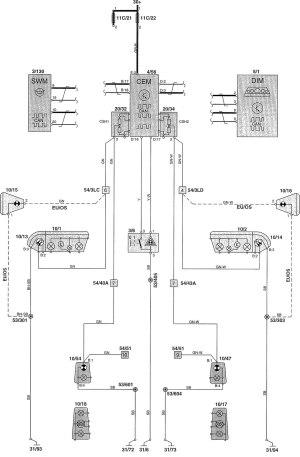 Volvo V70 (2002)  wiring diagrams  indicator lamp  CARKNOWLEDGE